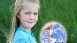 Girl holding the earth - Ilchi Lee's Prayer of Peace