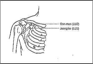 Ilchi Lee - acupressure points for flu and colds - LU 1 & 2