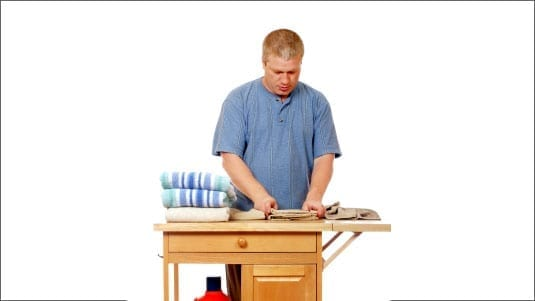 man working at a workbench