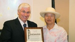 Ilchi Lee and the Mayor of Mahwah, New Jersey