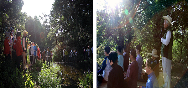 Light and water meditation in New Zealand guided by Ilchi Lee