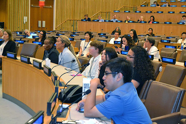 UN Peace in the Brain Conference audience