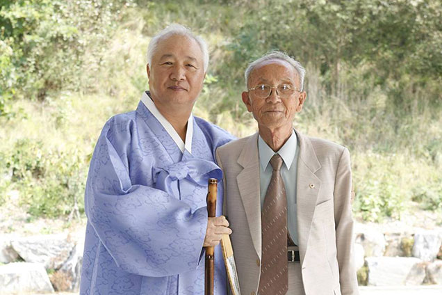Ilchi Lee with his father