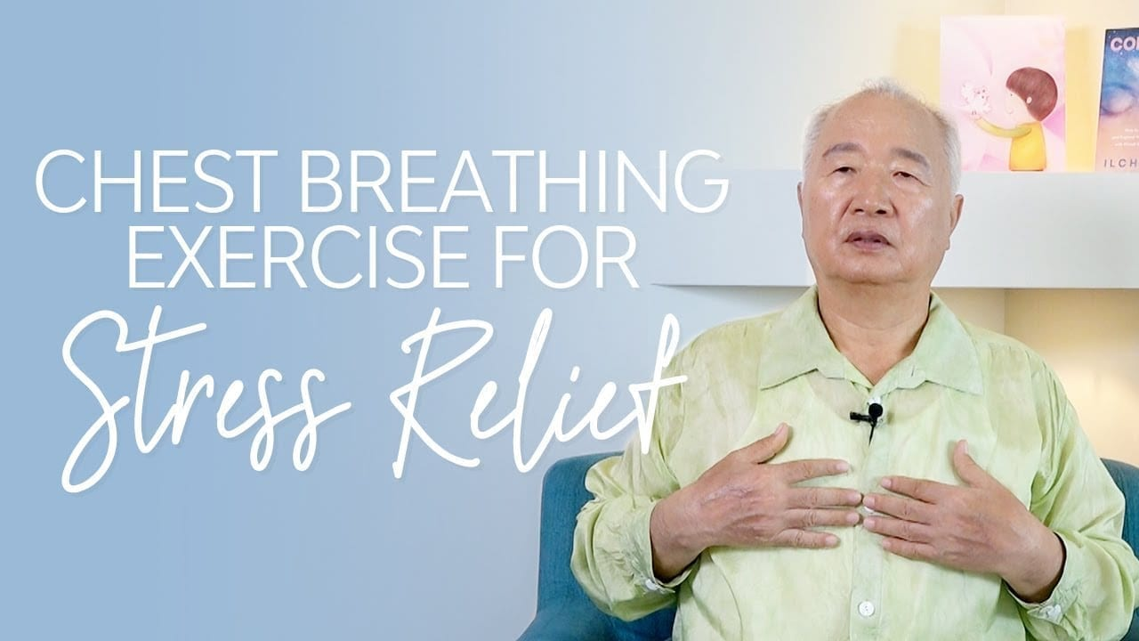 chest breathing exercise for stress relief