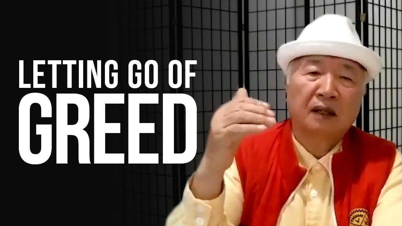 Ilchi Lee video title: Letting Go of Greed