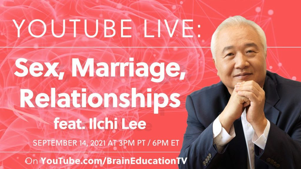 Ilchi Lee on Sex, Marriage and Relationships Live on YouTube
