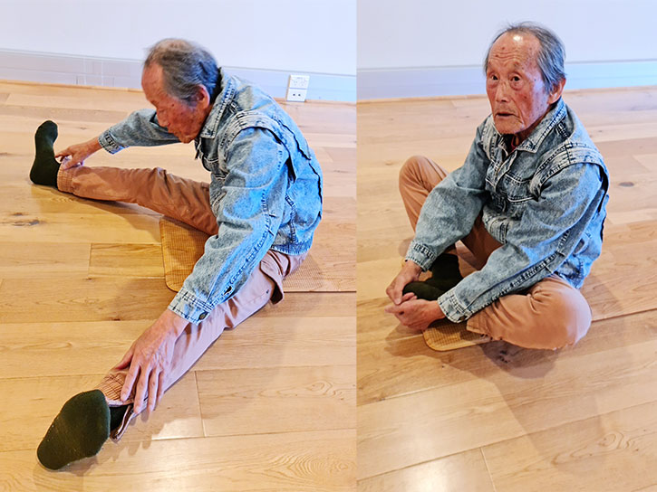 Inmyung Kim open leg and butterfly stretch